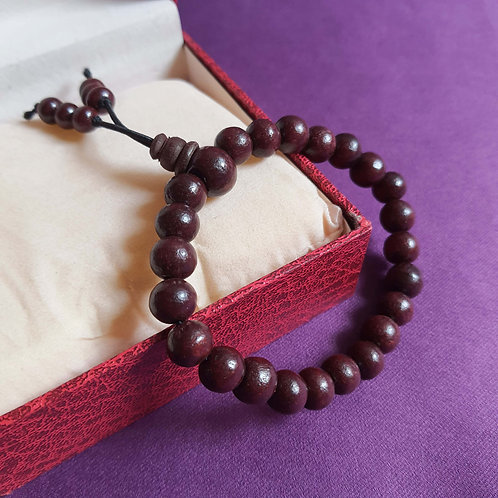 Mahogany red sandalwood bead Bracelet