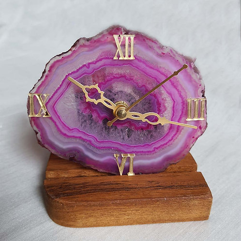 Pink concentric Clock