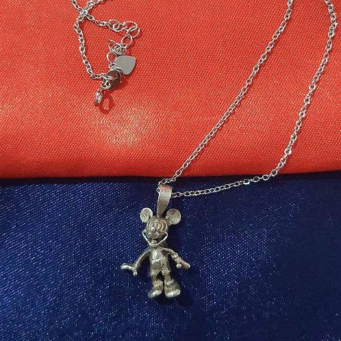 Oxidized cartoon mouse pendant