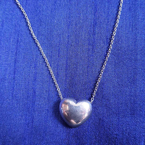 Booming heart Silver pendant