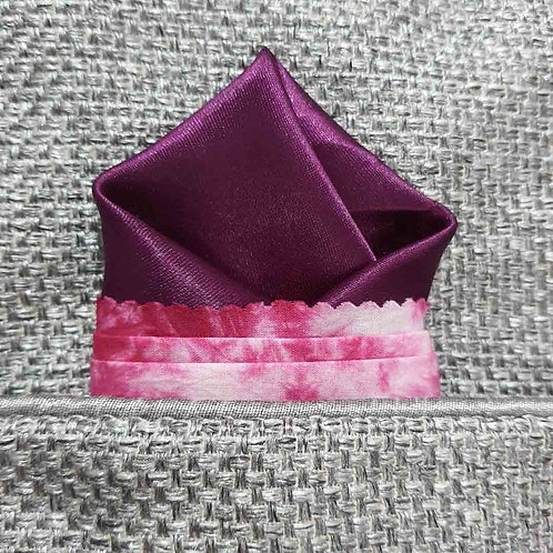The Purple Marble pocket square