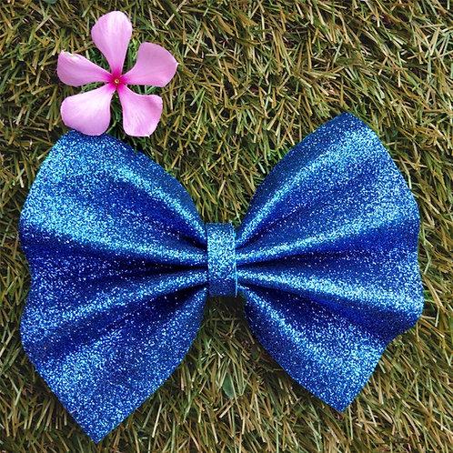 Blue glitter big Fashion bow