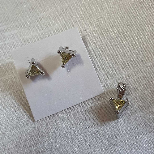 Yellow triangle pendant set