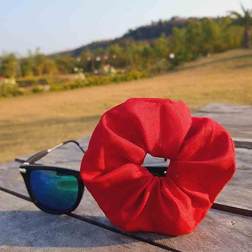 Red silk scrunchie