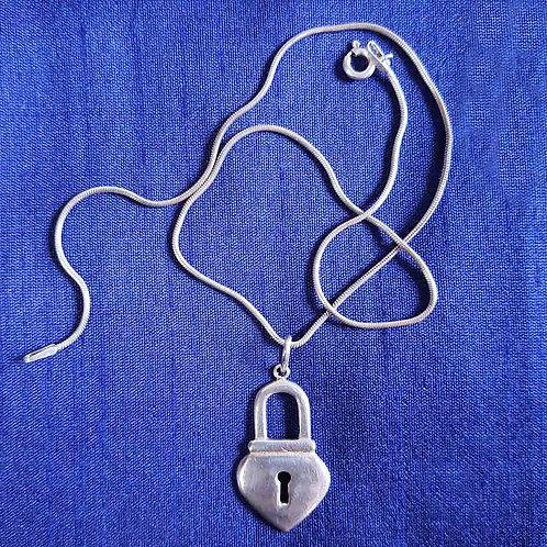 Lock your worries Silver pendant