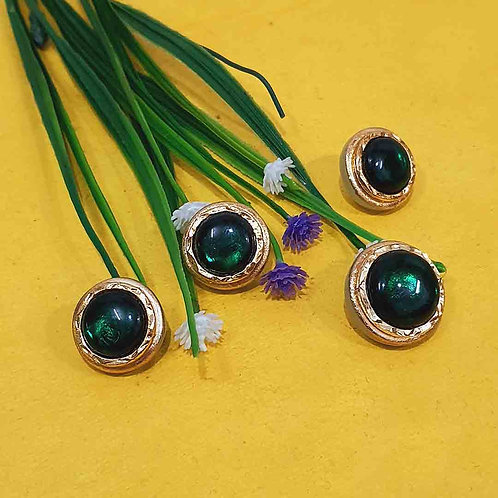 Emerald green sherwani buttons