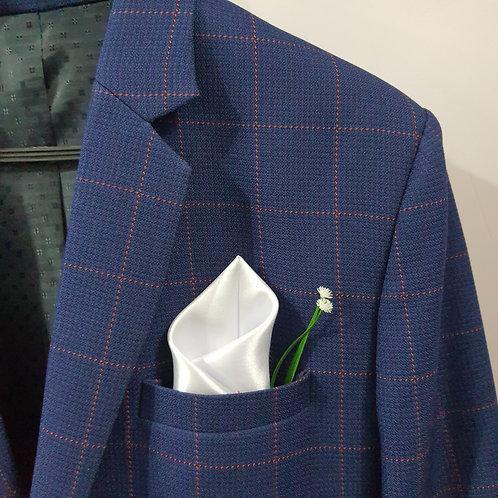 Asymmetrical elegance pocket square