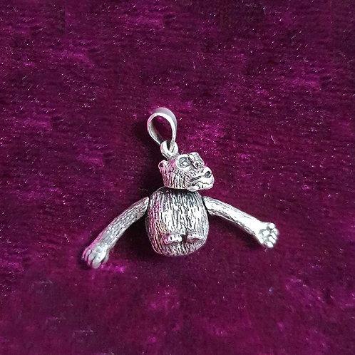 Crazy monkey Silver pendant