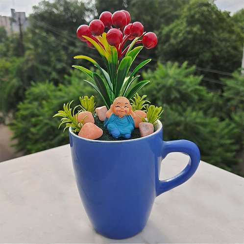 Baby yoga monk Miniature garden