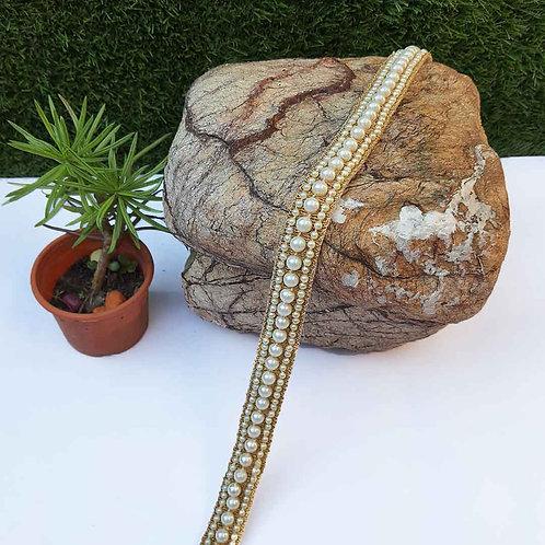 Luxury pearl waist belt