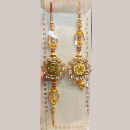 Pure Gold couple flower rakhi