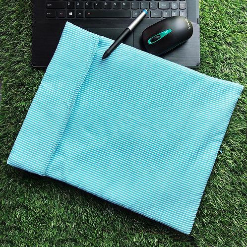 Blue stripes Laptop Cover