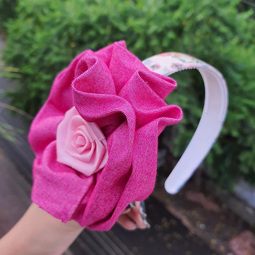 Passionate Pink flower hairband