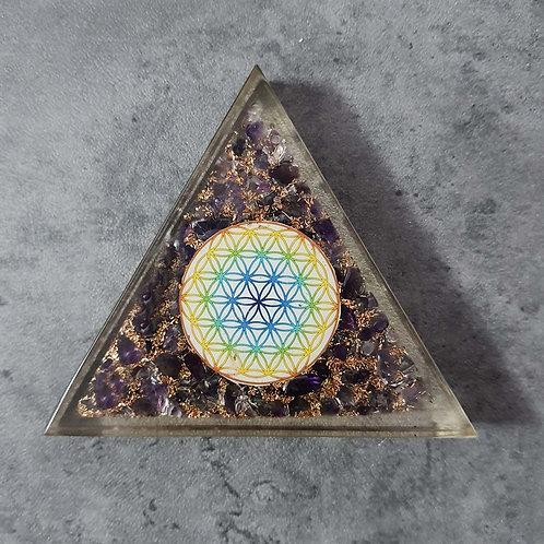 Triangle purple sparkle resin Coaster