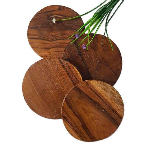 Natural wood texture coaster