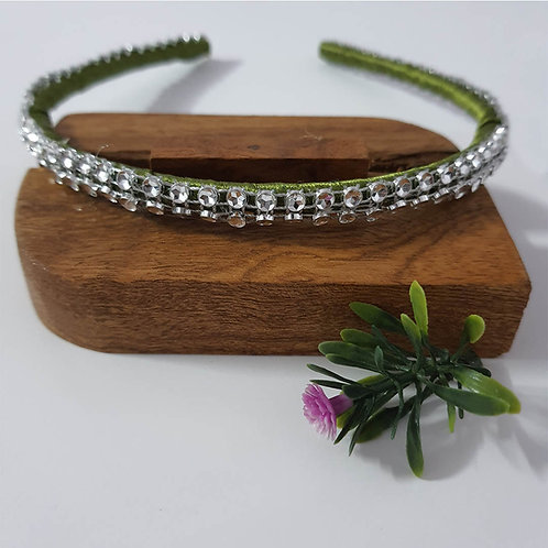 Earthy green sequin hairband