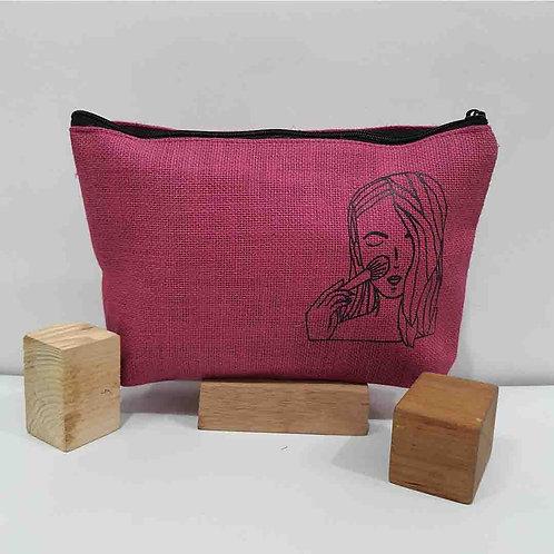 Merry Pink multipurpose jute bag