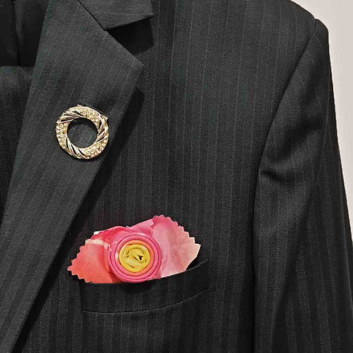 French Rose pocket square