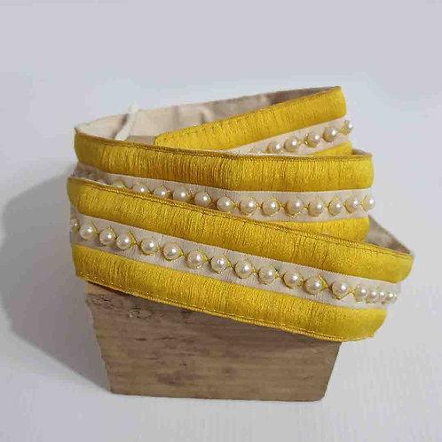 Yellow pearl belt