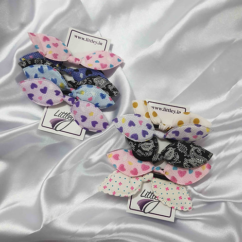 Assorted Fabric Bow hairties