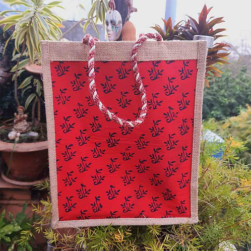 Bagh print multipurpose jute bag