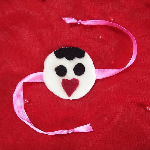 Cool heart smile Emoji Rakhi for Kids