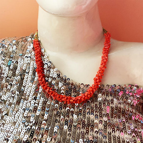 Tangy orange bead Neckwear