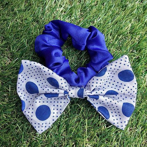 Blue polka hair Scrunchie