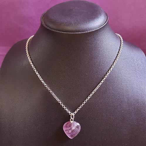 Lucky Amethyst heart locket