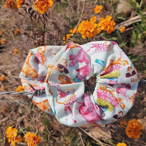 Cute printed scrunchie