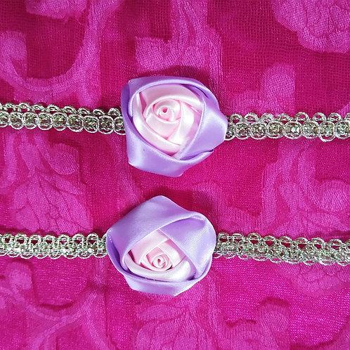 Purple pink Flower Rakhi for Bhabhi