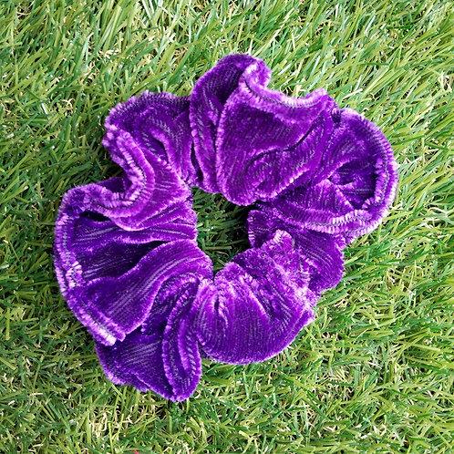 Purple velvet hair Scrunchie
