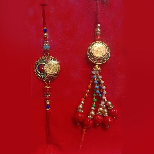 Pure Gold Yantra couple rakhi