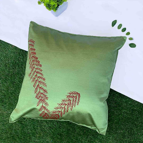 Sap Green hand painted cushion covers