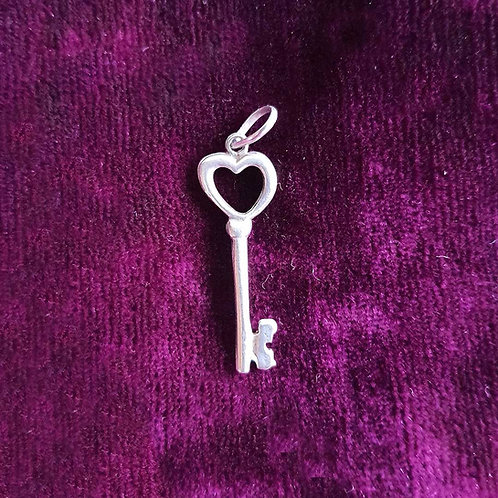 Key to success Silver pendant