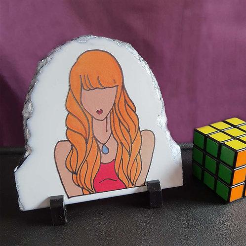 Sexy girl illustration stone plaque