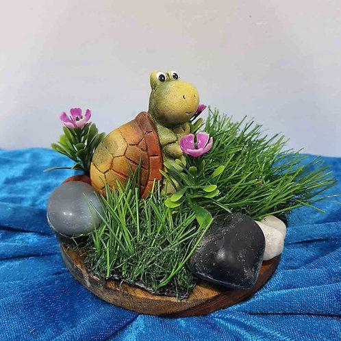 Wise turtle miniature showpiece