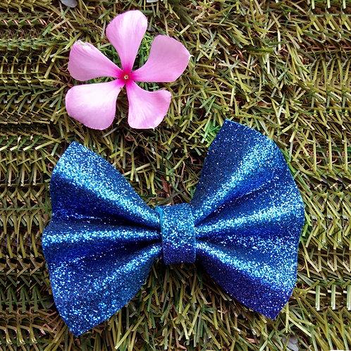 Blue foam glitter Fashion bow