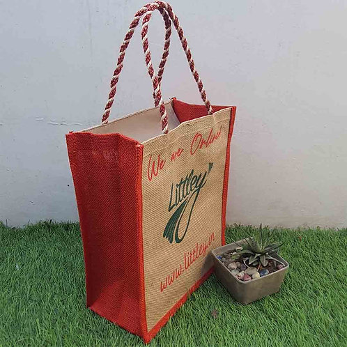 Golden fibre unisex bag with zip