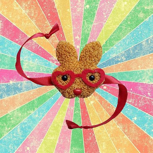 Cute bunny with heart glasses - Kid's rakhi