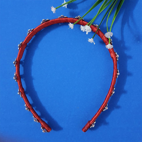 Regal red diamond hairband