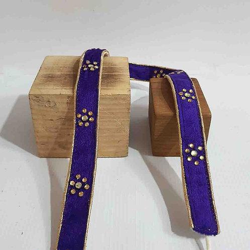 Royal purple flower belt