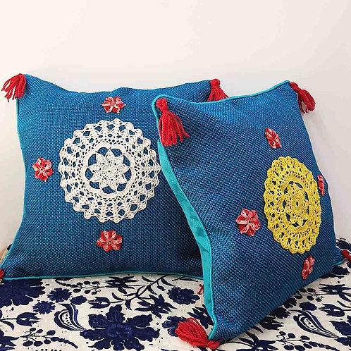 Floral Crochet cushion cover