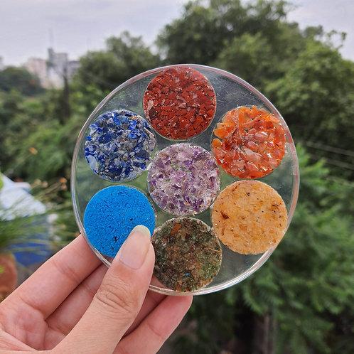 Seven heaven stone resin Coaster