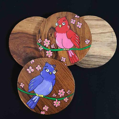 Love birds coaster set