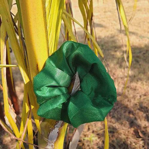 Green silk scrunchie
