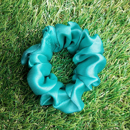 Sea green satin hair Scrunchie