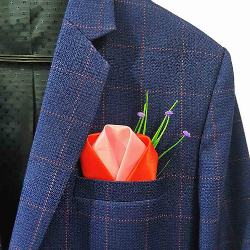Double layered wrap pocket square