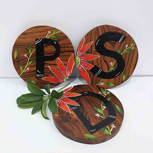 Customized Initials coaster