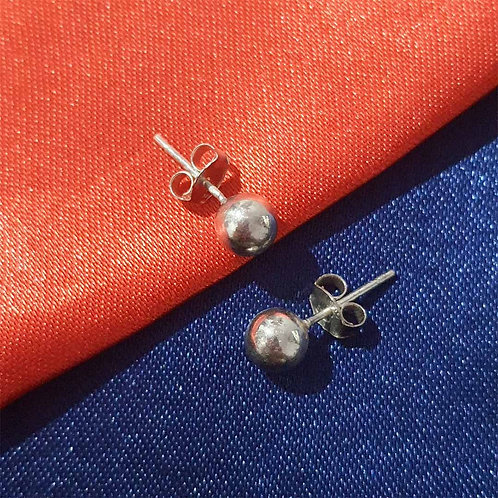 Pure Silver ball earrings